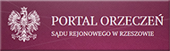 Portal Orzeczeń Sądu Rejnowego w Rzeszowie
